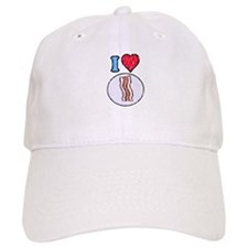Vintage I heart Bacon Baseball Cap