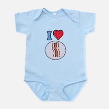 Vintage I heart Bacon Infant Bodysuit