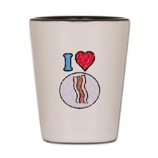 Vintage I heart Bacon Shot Glass