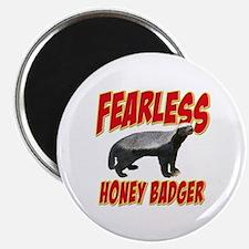 """Fearless Honey Badger 2.25"""" Magnet (100 pack)"""