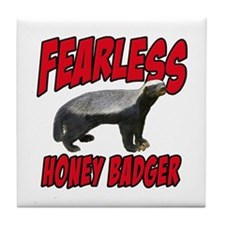 Fearless Honey Badger Tile Coaster