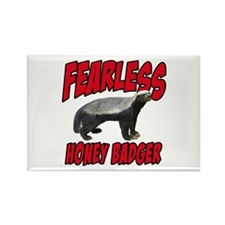 Fearless Honey Badger Rectangle Magnet