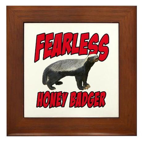 Fearless Honey Badger Framed Tile