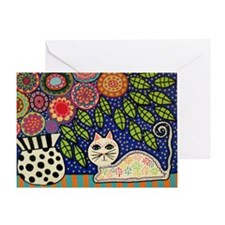 White House Cat Greeting Cards