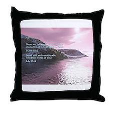 Job 37:14 Throw Pillow