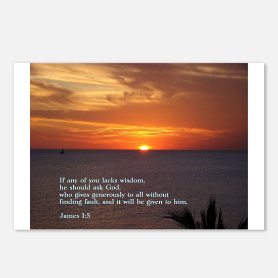 James 1:5 Postcards (Package of 8)