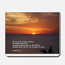 James 1:5 Mousepad
