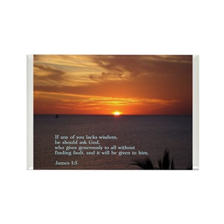 James 1:5 Rectangle Magnet (10 pack)