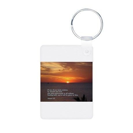 James 1:5 Aluminum Photo Keychain