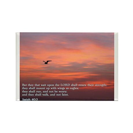 Isaiah 40:3 Rectangle Magnet