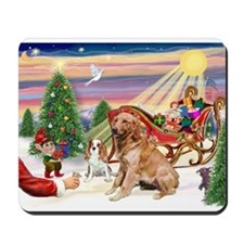 Santa's Golden Treat Mousepad