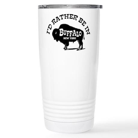 Buffalo New York Stainless Steel Travel Mug