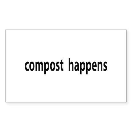 Compost Happens Rectangle Sticker
