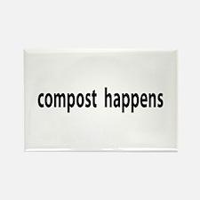 Compost Happens Rectangle Magnet (10 pack)
