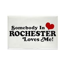 Somebody In Rochester Loves Me Rectangle Magnet
