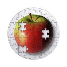 Puzzle Apple (ESE Teacher) Ornament (Round)