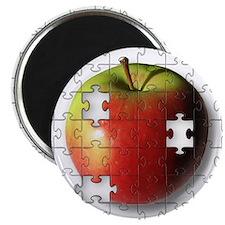 "Puzzle Apple (ESE Teacher) 2.25"" Magnet"