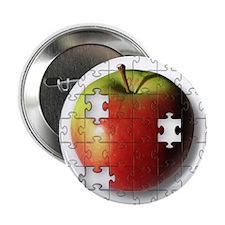 """Puzzle Apple (ESE Teacher) 2.25"""" Button"""