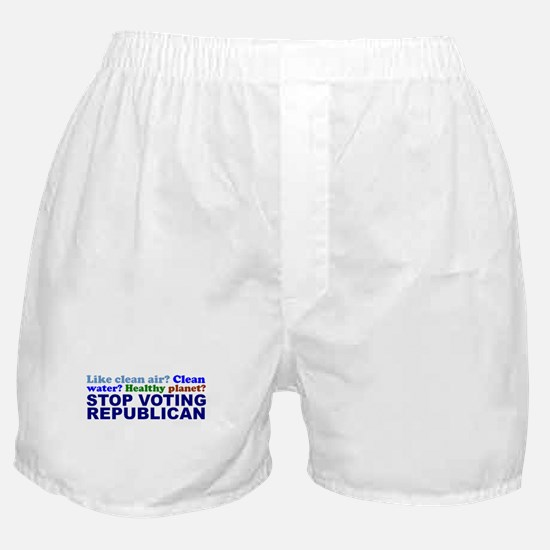 Like a Healthy Planet? Boxer Shorts