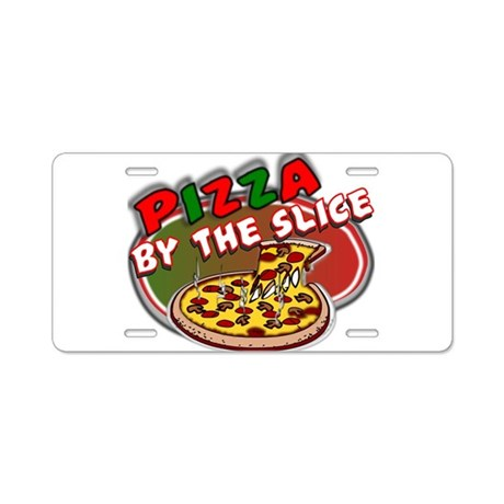 allergo_pizza Aluminum License Plate