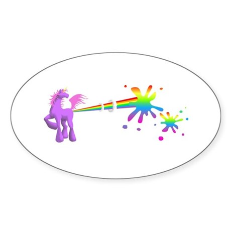 Unicorn Rainbow Laser Sticker