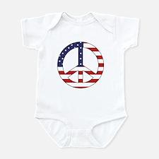 Peace Sign (American Flag) Infant Creeper