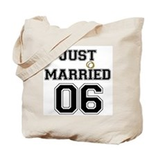 """Just Married 06"" Tote Bag"