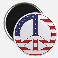 Peace Sign (American Flag) Magnet