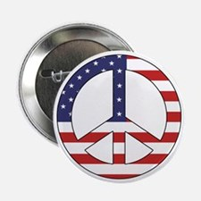Peace Sign (American Flag) Button