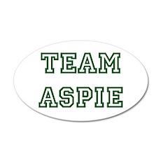 Team Aspie 22x14 Oval Wall Peel