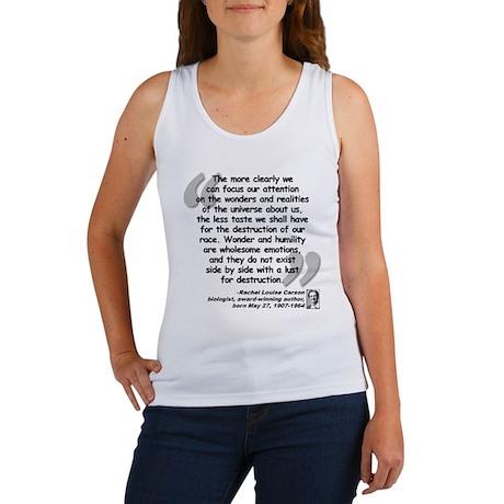 Carson Wonder Quote Women's Tank Top