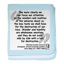 Carson Wonder Quote baby blanket