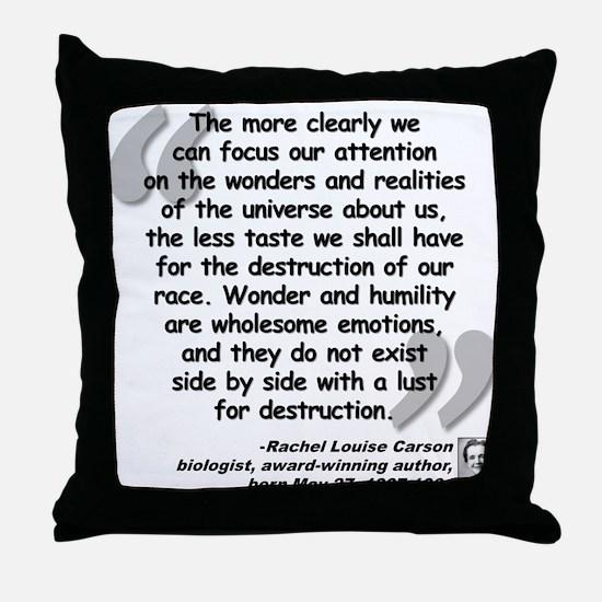 Carson Wonder Quote Throw Pillow