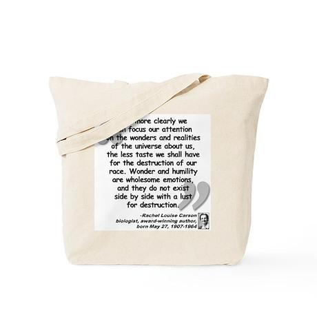 Carson Wonder Quote Tote Bag