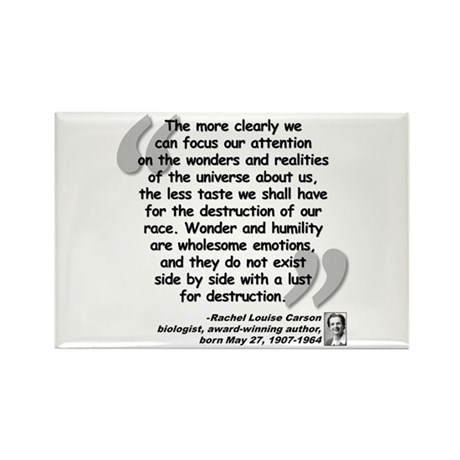 Carson Wonder Quote Rectangle Magnet