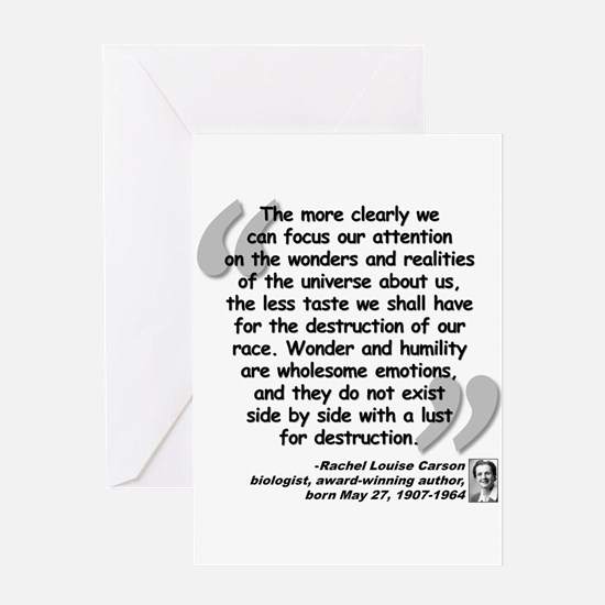 Carson Wonder Quote Greeting Card