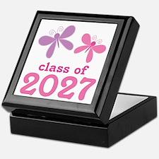 Class of 2027 Girls Graduation Keepsake Box