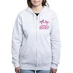 Class of 2027 Girls Graduation Women's Zip Hoodie