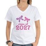 Class of 2027 Girls Graduation Women's V-Neck T-Sh