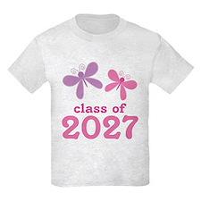 Class of 2027 Girls Graduation T-Shirt