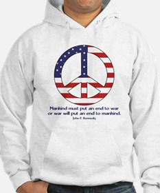 Peace Sign w JFK Quote Hoodie