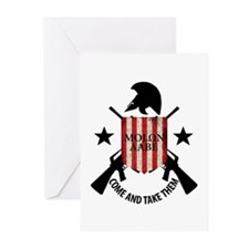 Molon Labe (Come and Take The Greeting Cards (Pk o