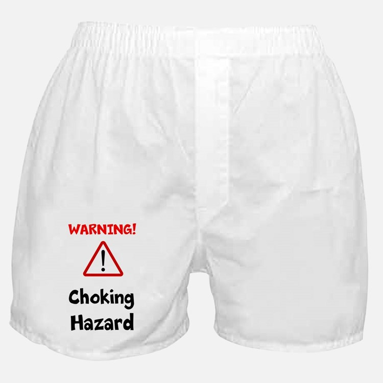 Cute Warning choking hazard Boxer Shorts
