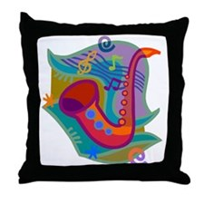 Jazz1 Throw Pillow