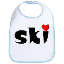 Ski Small Heart Bib