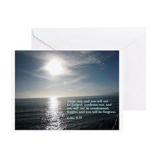 Luke 6:37 Greeting Card