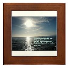 Luke 6:37 Framed Tile