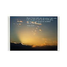 John 14:27 Rectangle Magnet (100 pack)
