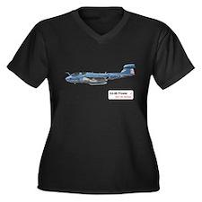 EA-6B Prowler Women's Plus Size V-Neck Dark T-Shir