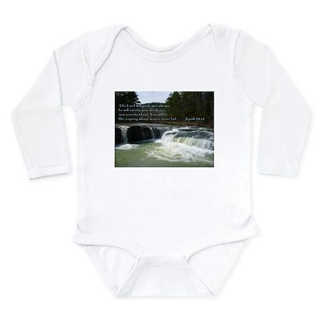 Isaiah 58:11 Long Sleeve Infant Bodysuit